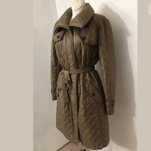Max Mara Weekend Taupe Quilted Coat